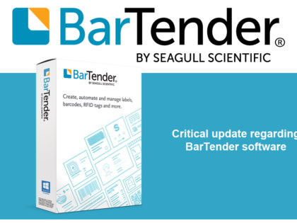 Critical update regarding BarTender software